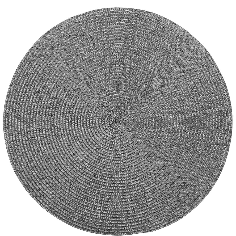 Підставка під тарілку діам. 38 см, темно-сіра
