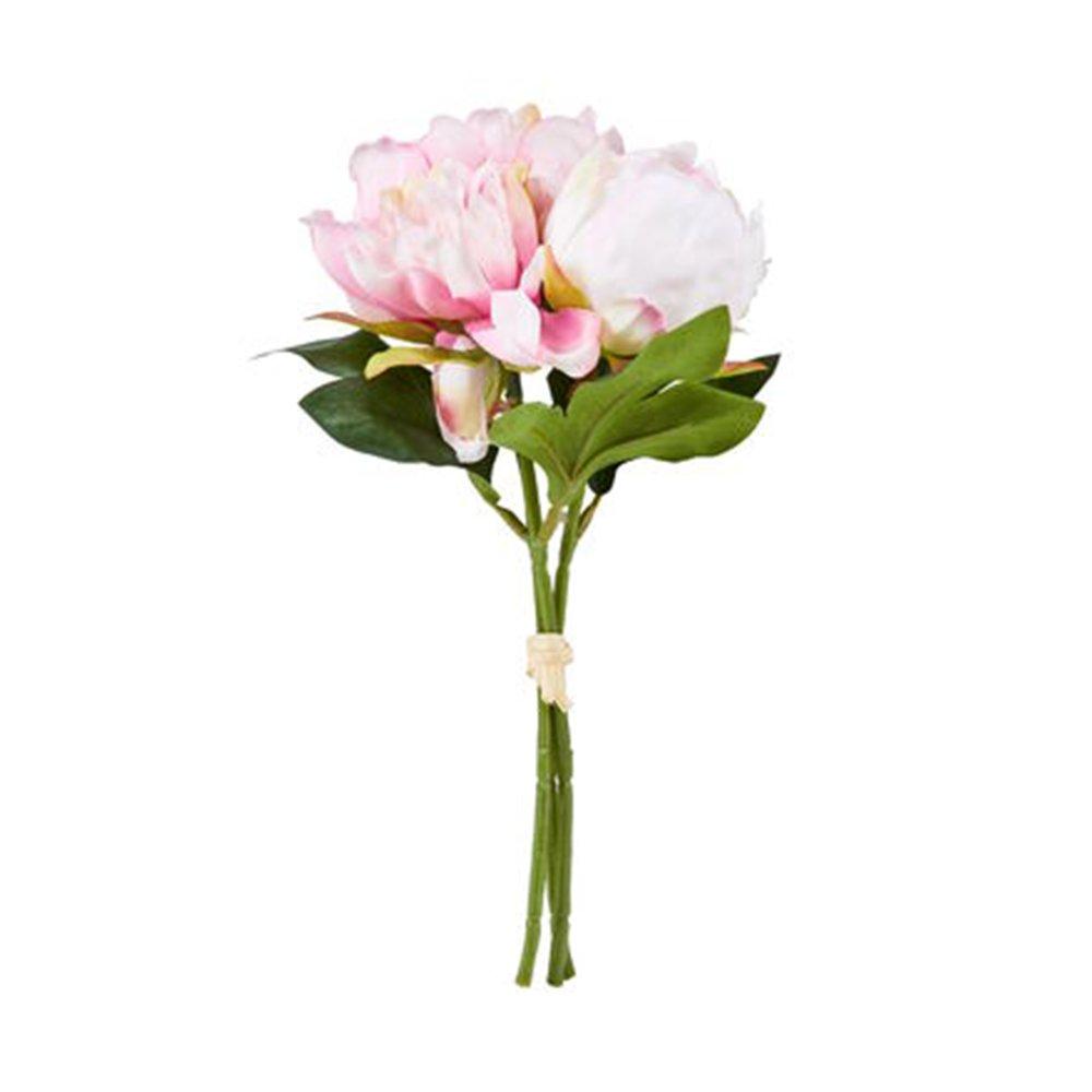 Букет півонії штучний вис 25см, рожевий 10217871