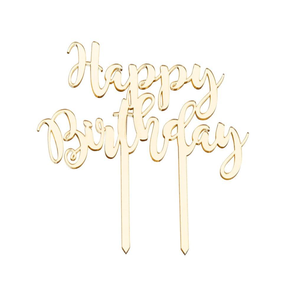 Декоративна прикраса ''з днем народження''  17х14х0,5см ,золота