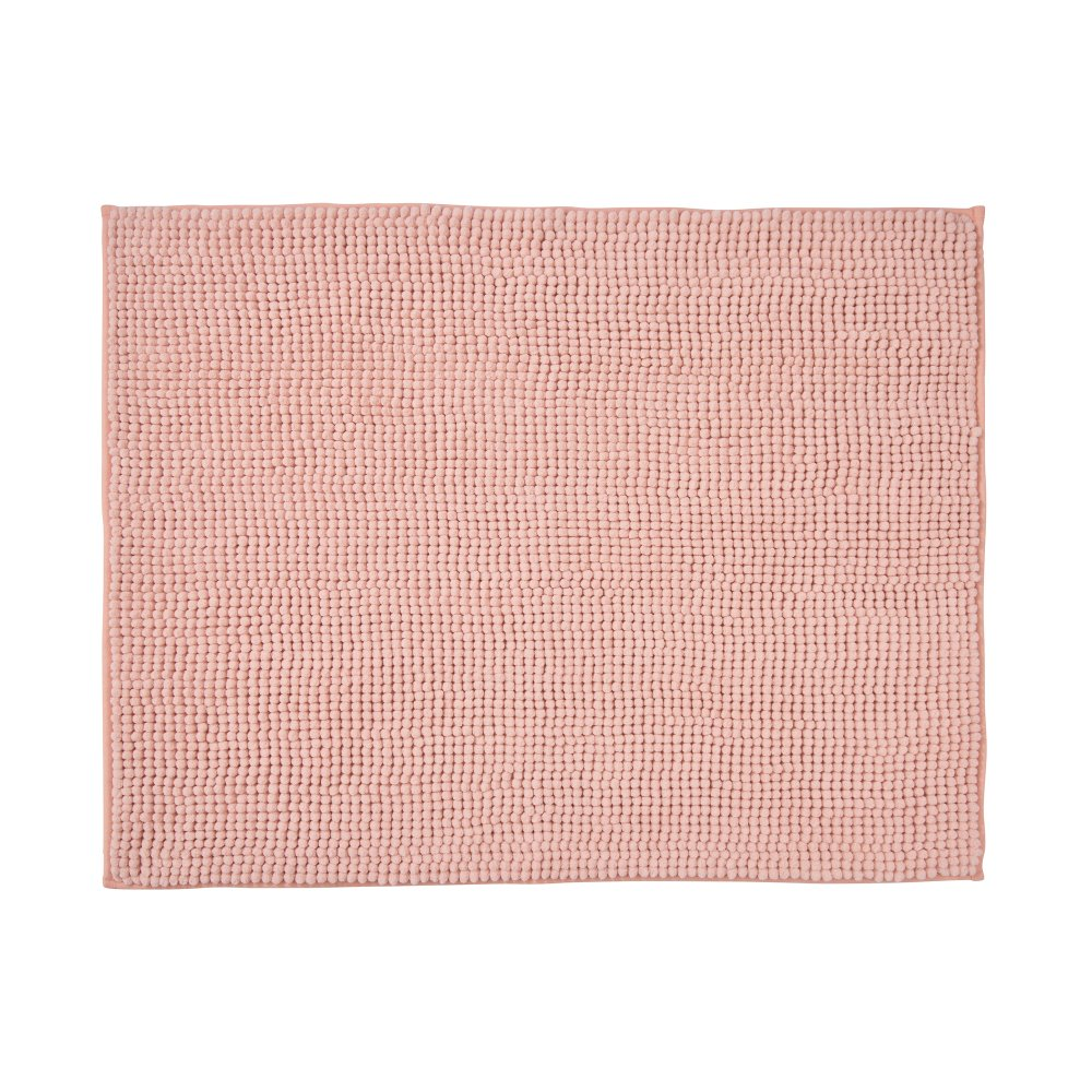 Килимок для ванної кімнати 80х60см,рожевий
