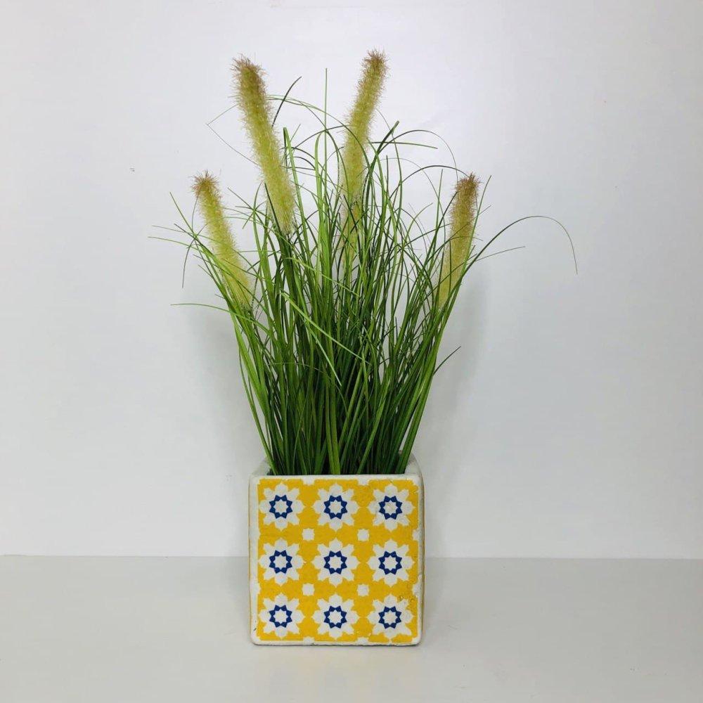 Горщик для квітів, жовтий