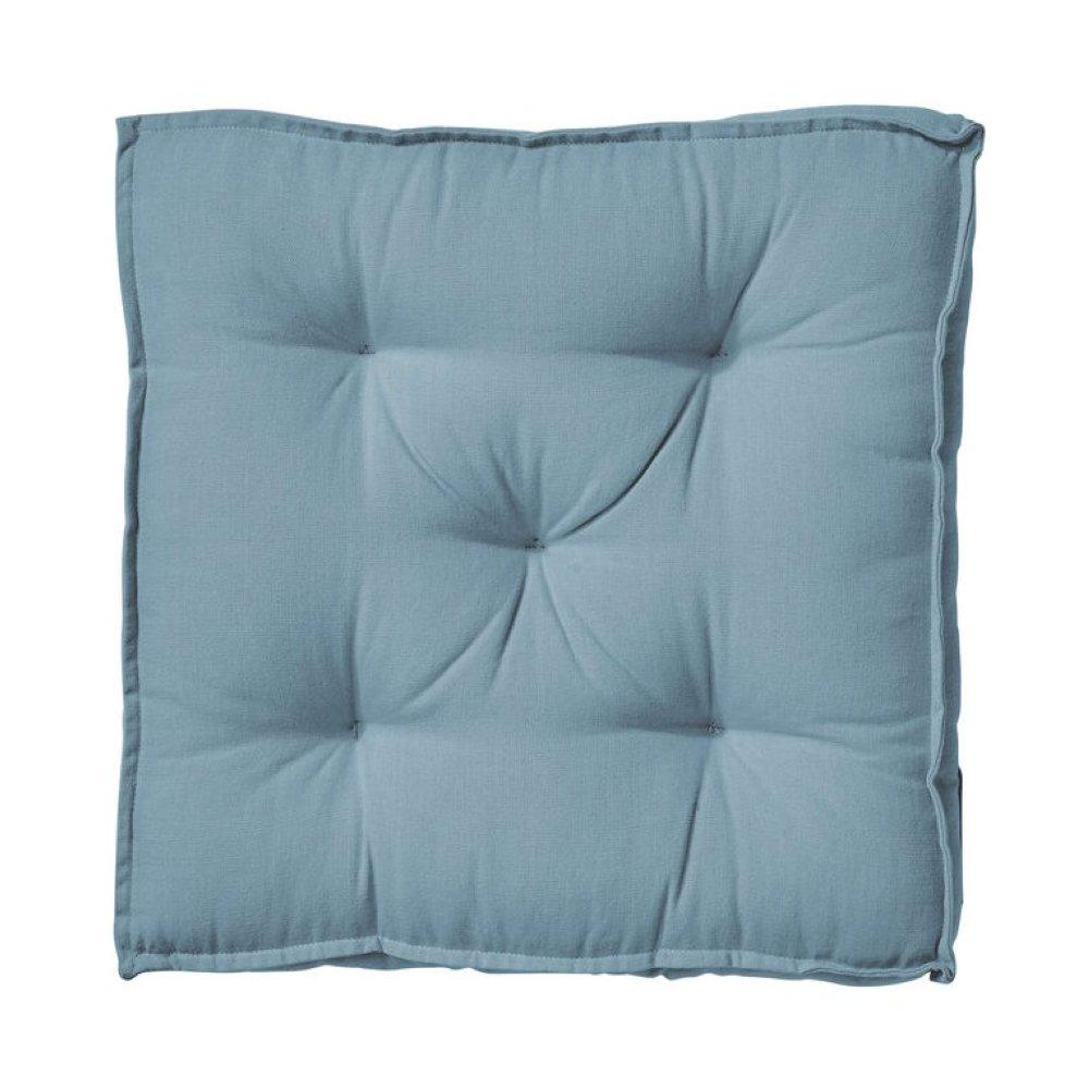 Подушка 40х40см, синя, верх:бавовна/нап:поліестер