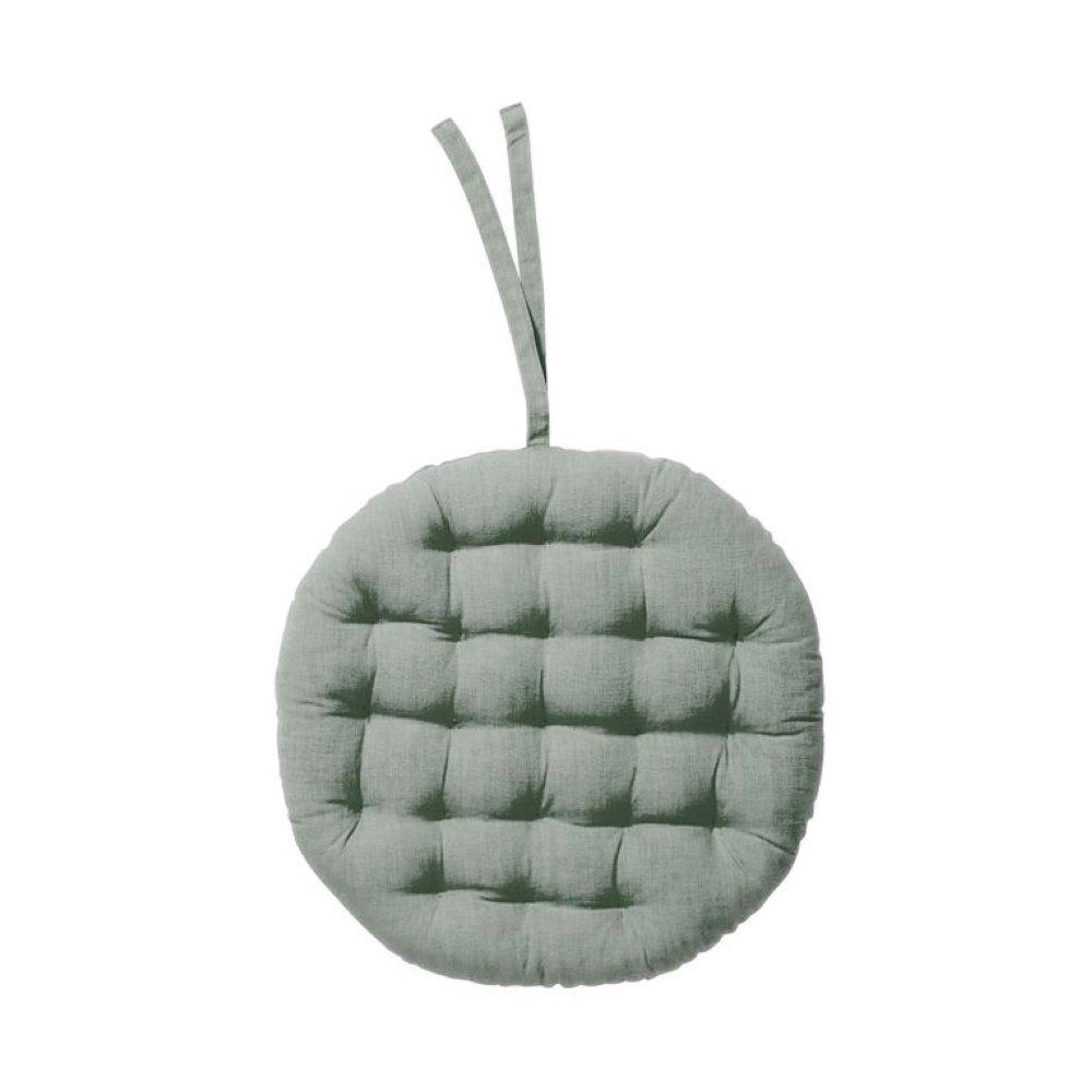 Подушка на стільчик діам 42см, світло-зелена, верх:бавовна/нап:поліестер