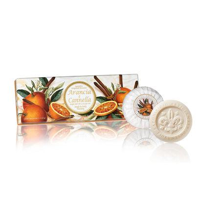 Зображення Мило з ароматом помаранч і кориця  SAF-TAORMINA  100 гр. SAF-ES-42