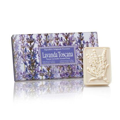 Изображение Мыло с ароматом лаванды SAF-LAVANDA TOSCANA  Набір 3 шт. V:125 гр. SAF-S410