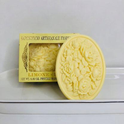 Зображення Мило з ароматом лимона, кругле  SAF-BOTTICELLI  125 гр. SAF-YK2