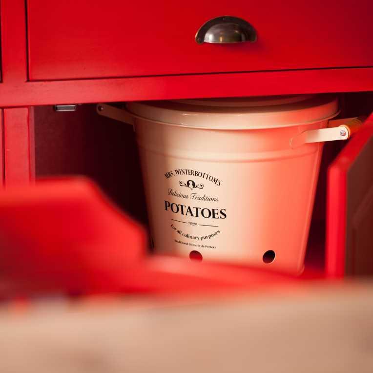Зображення Відро для картоплі MRS. WINTERBOTTOM'S Білий H:32 см. 10189469
