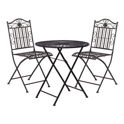 Изображение Стол и 2 стула в наборе TERRACE HILL Коричневый 40.5х41х91 см. O:70 см. H:71 см. 10199406