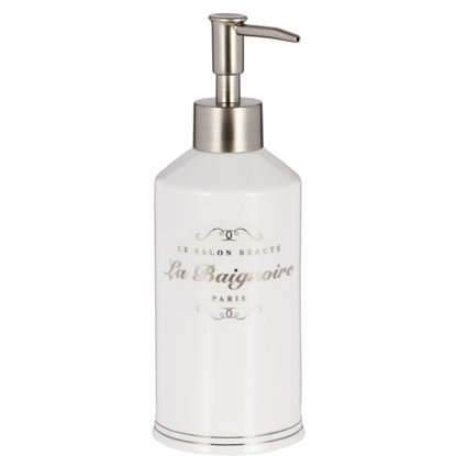 Изображение Диспенсер для мыла SALON BEAUTY Белый в сочетании H:20.3 см. 10201355