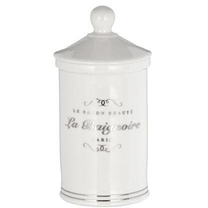Изображение Емкость с крышкой SALON BEAUTY Белый в сочетании H:15.7 см. 10201362