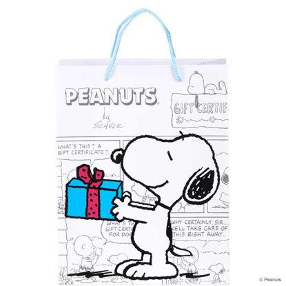 Зображення Пакет подарунковий PEANUTS Білий в поєднанні 26х13.5х33.5 см. 10201523