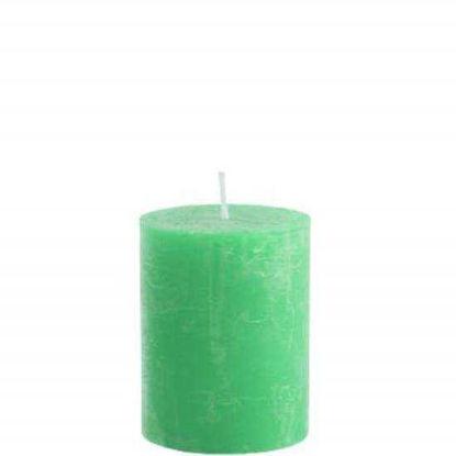 Зображення Свічка RUSTIC Зелений 6.8х9 см. 10201733