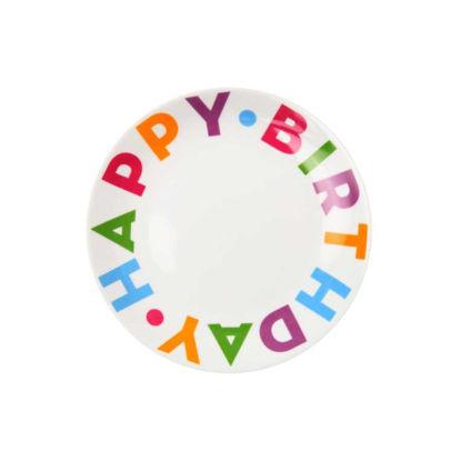 Изображение Тарелка HAPPY BIRTHDAY Комбинированный O:21 см. 10202646