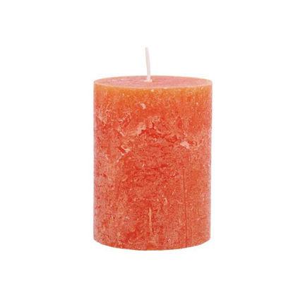 Зображення Свічка RUSTIC Помаранчевий H:9 см. 10202671