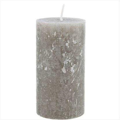 Зображення Свічка RUSTIC Сірий H:13 см. 10203337