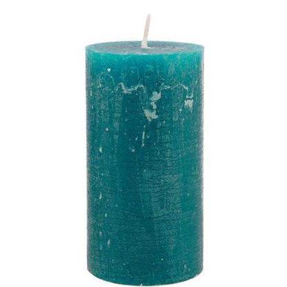Зображення Свічка RUSTIC Блакитний в поєднанні H:13 см. 10203339