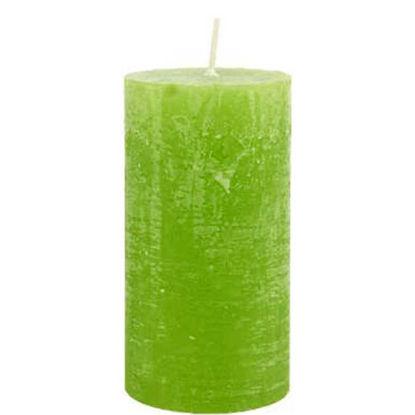 Зображення Свічка RUSTIC Зелений H:13 см. 10203351