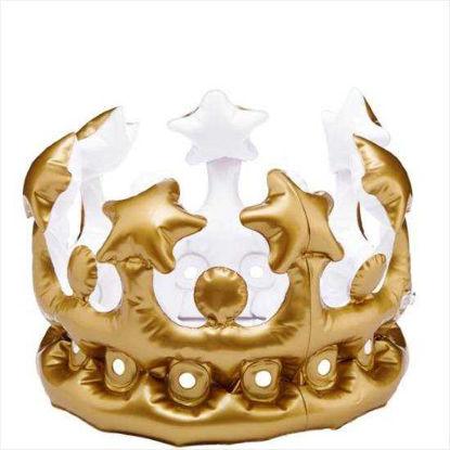 Зображення Корона надувна для вечірок QUEEN FOR THE DAY Золотий 10203358