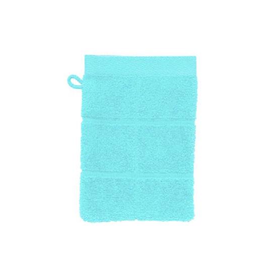 Зображення Рукавичка банна махрова COTTON CLUB Блакитний 15х20 см. 10203444