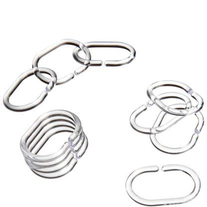 Зображення Набір кілець для завіси для душу WET WET WET Срібний 10203776