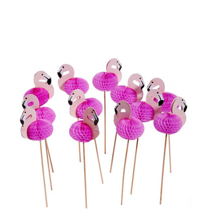 Зображення Фламінго для коктейлю декоративні FLAMINGO Рожевий 12х19 см. 10204653