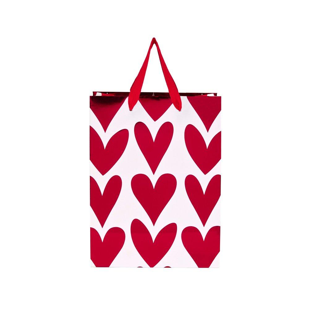 Изображение Пакет подарочный HEART TO HEART Красный 17х9.2 см. 10204820
