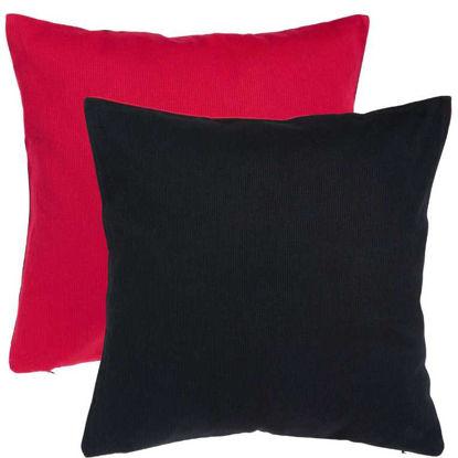 Изображение Подушка TWO TONES Черный в сочетании 50х50 см. 10205248