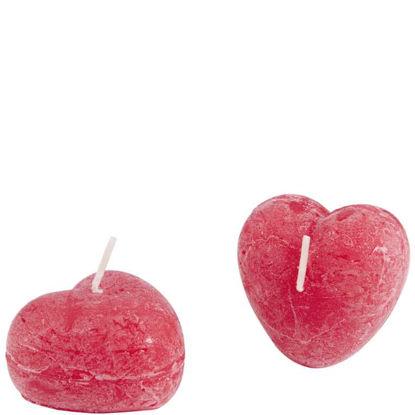 Изображение Свечка HEART Красный в сочетании 3.5х6 см. 10205819