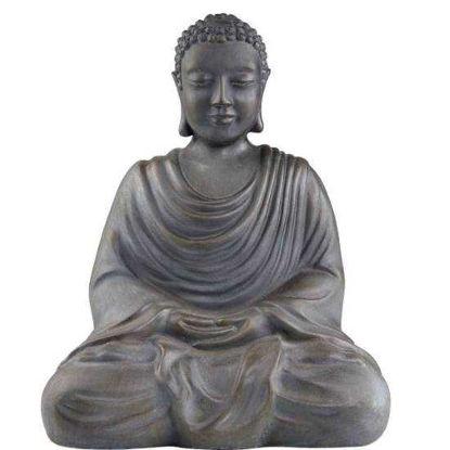 Изображение Фигура будды BUDDHA Серый 39х24.5х48 см. 10206056