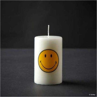 Изображение Свечка SMILEY Белый в сочетании H:12 см. 10206165
