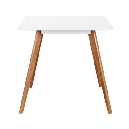 Зображення Стіл для столової кімнати NEW DENMARK Білий 80х80х75 см. 10207053