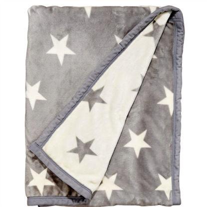 Изображение Пледы STARS Серый 130х170 см. 10207325
