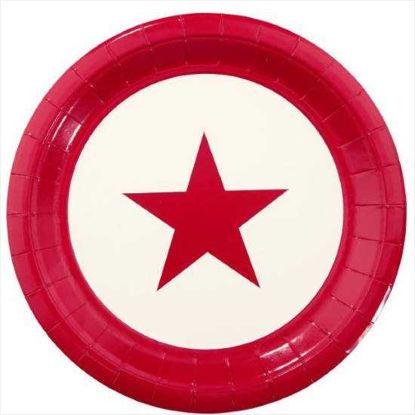Изображение Тарелка STARS Красный 10207379