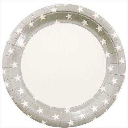 Изображение Тарелка STARS Серый 10207381
