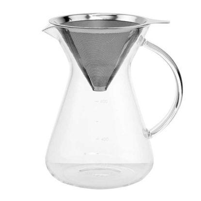 Изображение Графин для кофе с металлическим ситом SLOW COFFEE Прозрачный V:600 мл. 10208645