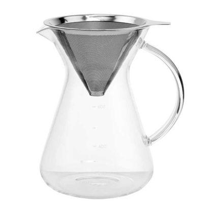 Зображення Графин для кави з металевим ситом SLOW COFFEE Прозорий V:900 мл. 10208653