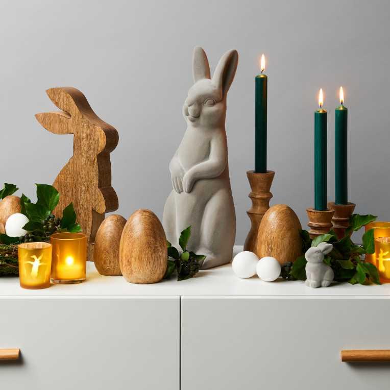 Зображення Прикраса декоративна EASTER Бежевий H:7.5 см. 10208989