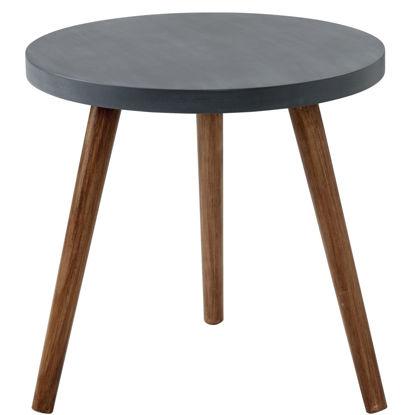 Изображение Стол для жилой комнаты STONE AGE Черный 48х54 см. 10209101