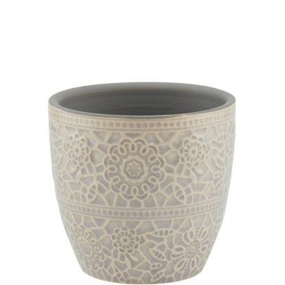 Изображение Горшок для цветов BLOOMY Серый 7.8x7.8 см. O:7.8 см. H:7.3 см. L:7.8 см. 10209476