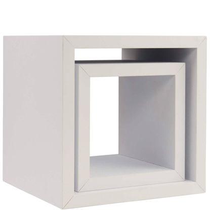 Изображение Полочка настенная BERLIN Белый 20х20х20 см., 15х15х15 см. 10210237