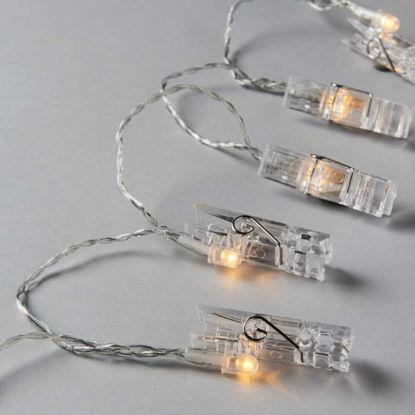 Изображение Гирлянда CLIP ART LED Прозрачный L:185 см. 10210985