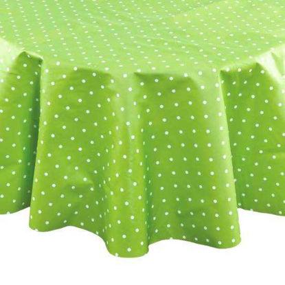 Изображение Скатерть WATERPROOF Зеленый O:140 см. 10211045
