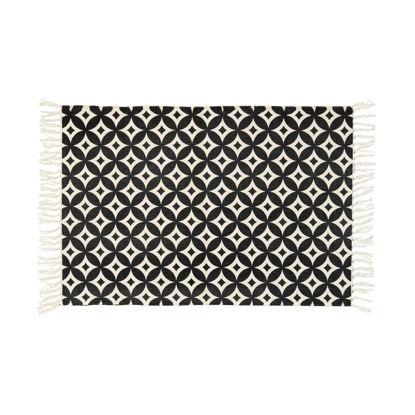 Изображение Коврик текстильный SILENT DANCER Черный в сочетании 60х90 см. 10211417