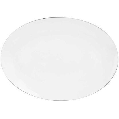 Зображення Тарілка SILVER LINING Білий в поєднанні 35х25 см. O:35 см. 10211511