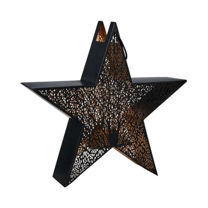 Зображення Підсвічник-Підвіска у вигляді зірки LUMINOUS Чорний 45х43х10 см. 10211960