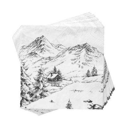 Зображення Серветки неароматизовані APRES Білий 33х33 см. 10212900