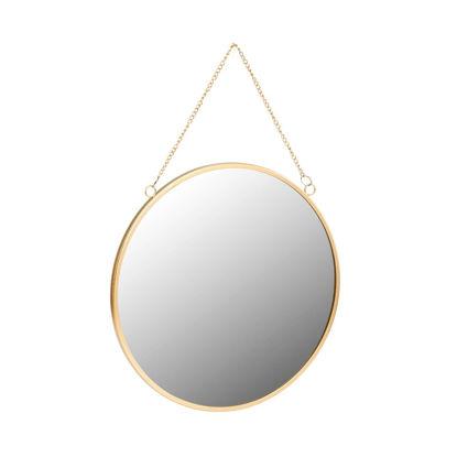 Зображення Дзеркало CARAT Золотий в поєднанні O:30 см. 10213556