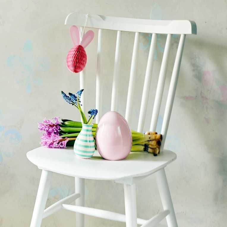 Зображення Яйце пасхальне декоративне EASTER Рожевий O:8 см. H:10 см. 10213661