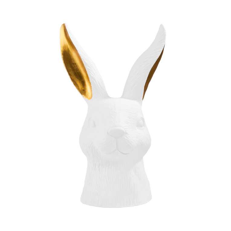 Зображення Зайченя пасхальне декоративне EASTER Білий в поєднанні H:38 см. 10213726