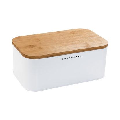 Зображення Хлібниця з кришкою BREAD'N'BREAKFAST Білий в поєднанні 30.5х18х12.5 см. 10213754